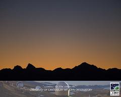 Venus & Mercury at dusk (Earth & Sky NZ) Tags: astronomy astrophotography mtjohn mtjohnobservatory observatory universityofcanterburymtjohnobservatory mtjohnuniversityobservatory earthandsky newzealand nz starlightreserve darkskyreserve aorakimackenzieinternationaldarkskyreserve internationaldarkskyassociation ida mackenziebasin mackenzie aoraki stargazing tekapo laketekapo igorhoogerwerf dusk sunset mountainrange venus mercury