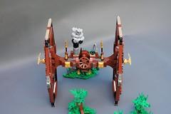 Steamwars - Steampunk Tie fighter - front view (adde51) Tags: adde51 lego moc steampunk steamwars tie tiefighter fighter jawa