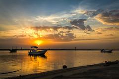 Three boats (alvinpurexphotography) Tags: three boat sunrise landscape sunrays cloudy