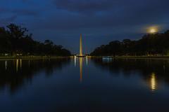 230/366 - Washington Monument (Ravi_Shah) Tags: longexposure cy365 dc a7ii moon fullmoon sony washingtonmonument nationalmall washingtondc potd