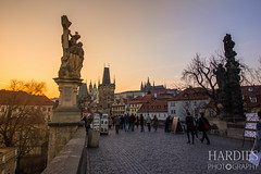 Charles Bridge And Mala Strana (sean.hardies) Tags: prague charles bridge mala strana baroque castle sunset czech republic