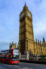 A classic London Shot (Yannis_K) Tags: london bigben redbus routemaster housesofparliament nikond7100 nikon1685mmf3556vr yannisk westminster