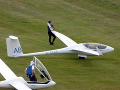 G-CLES / AB Schleicher ASW 27-18 E cn 29606 Dunstable Downs 18Aug16 (kerrydavidtaylor) Tags: glider sailplane gliding
