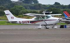 G-GHOW (goweravig) Tags: gghow visiting aircraft cessna reims 182 f182q skylane swansea wales uk swanseaairport