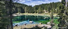 20160902 Landscape Lago di Carezza (Matteo Biguzzi [bigu77]) Tags: dolomiti dolomites unescoworldheritage summer sky lake landscape laghi 2016 canon eos500d eosrebelt1i
