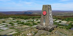 100 Peak tops...No 15...Edale moor, Kinder east. (A tramp in the hills) Tags: kinderscout edalemoor derbyshire trigpoint