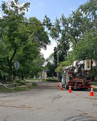 CEI removes broken trees 01 - Cleveland Heights microburst - 2016-08-15 (Tim Evanson) Tags: clevelandheightsohio clevelandheightsmicroburst weather trees myhouse
