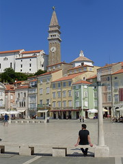 Place Guiseppe Tartini / Piran / Pirano / Istrie / Slovnie / 19 aot 2016 (leonmul68) Tags: piran pirano istrie slovnie tartini 2016 aot2016 19aot2016