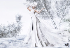 Ice Queen (Wicca Merlin / Wicca's Wardrobe) Tags: 3d 3dpeople art avatar azul blog blogger bow classy clothing couture crossroads elegant emotions fashion fashioninpixels fashionposes femaleclothing femalewear gown hair headribbon highfashion ice icequeen jewelry locations lyrics mamijewell metavirtual mirjammills model modelpose modelposes modeling modelingpose modelingposes music new newrelease newreleases news photographer pose quixotica ribbon secondlife sl slclothing slfashion slstyle snow sophisticated style vintageromance virtualworld white wiccamerlin withintemptation woman zibska