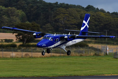 G-HIAL.PIK.020916 (MarkP51) Tags: ghial viking dhc6400 twinotter loganair turboprop prestwick airport egpk pik scotland aviation aircraft airplane plane image markp51 aviationphotography nikon d7100