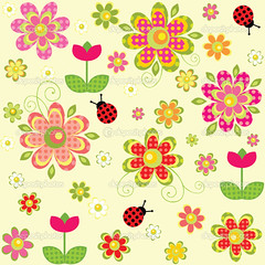 Childish wallpaper (myasander65) Tags: arrival abstract baby background birthday bloom blossom botanical bright card childish colorful daisy design decor decorative easter fabric flourish floral flower greeting happy holiday illustration ladybird ladybug nature ornament pattern print repeat repetition sample seamless season seasonal spring stylish summer template textile texture trendy tulip vector wallpaper wishes wrap wrapper