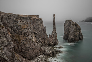 Spillar's Cove surrounded by fog