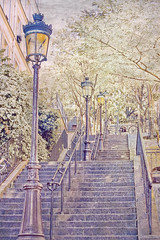 Montmartre (Artypixall) Tags: paris texture stairs streetlamp montmartre