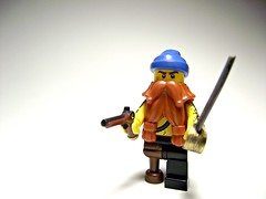 Willy and his weapons (Bricks_n_more) Tags: lego pirate minifig custom minifigure brickforge