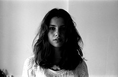 Belle (Derek Fernandes) Tags: light shadow brazil portrait blackandwhite white black film girl brasil analog lomo lomography shadows natural derek yashica windowlight fernandes eletro