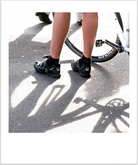 all geared up (overthemoon) Tags: shadow hairy feet station bicycle schweiz switzerland waiting cyclist suisse legs platform picasa utata svizzera quai jambes vevey ip vaud romandie ironphotographer mollets polaroidy utata:project=ip149