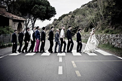 ... (Funky64 (www.lucarossato.com)) Tags: wedding friends bride friend beatles abbeyroad amici matrimonio sposa sposo isoladelgiglio attraversare attraversamento funky64 lucarossatocom veronicaedaniele