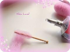 Tutorial: Algodn de Azcar en miniatura4 (Noia Land) Tags: miniature candy felt cotton bjd tutorial miniatura stepbystep azcar aguja neddle fieltro algodn pasoapaso
