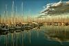 Yachthafen (dubdream) Tags: ocean sky cloud seascape water marina landscape harbor boat nikon yacht baltic sa schleswigholstein d800 heiligenhafen yachthafen dubdream