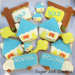Realtor Sugar Cookies with Royal Icing (. . . Sugar Dot Cookies . . .) Tags: truck dessert moving key realestate newhouse realtor sugarcookies royalicing soldsign
