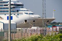 Costa Pacifica (mariafowler.co.uk) Tags: cruise costa ship vessel bow pacifica harwich