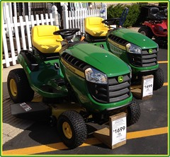 My Dream Rides. (4s) (Mega-Magpie) Tags: usa tractor green yellow america john outdoors illinois lawn il care naperville lowes deere 4s iphone