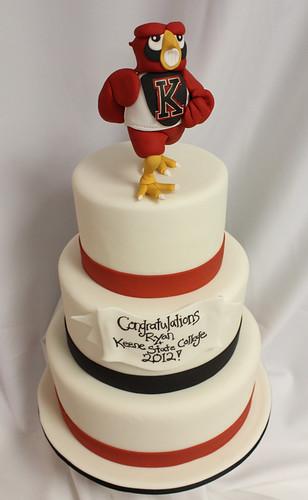 Running Owl Mascot Graduation cake