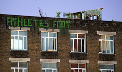 (Alex Ellison) Tags: urban streetart rooftop graffiti roller eastlondon athletesfoot
