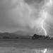 Lightning Striking Longs Peak Foothills 7CBW