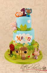 Waybuloo Cake (Little Cherry Cake Company) Tags: birthday boy 3 first bugs deli colourful nara tier nok lau tok cbeebies yojojo waybuloo piplings cheebies