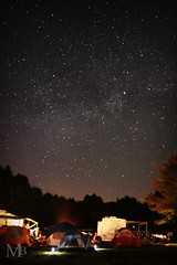 Vermont Sky (michellebourget129) Tags: camping trees light summer sky tree nature silhouette night forest canon stars star tents woods vermont treeline vignette vt 2012 milkyway shootingstar