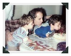 Snapshot - 1988/Love is ... their Dad. (jeannerene) Tags: dad happybirthday birthdaycandles vintagephoto fatherandsons happyfathersday fatherdaddy dadsdad9 sonswithdad loveistheirdad
