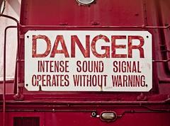 Ominous sign (Marc Rauw.) Tags: red holland netherlands amsterdam sign danger geotagged boat wharf m42 shipyard olympuspen 58mm trinityhouse lightship helios ndsm dockyard 442 dangersign foghorn misthoorn m43 scheepswerf lightvessel lichtschip helios44258mmf2 intensesound epl1 microfourthirds μ43 geo:lat=52400032366360634 geo:lon=4888161772337298