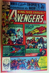 Avengers Annual #10 (Cool stuff - GZB) Tags: comics ironman destiny hawkeye blob rogue pyro brotherhood 1980 captainamerica marvelcomics mystique bronzeage avalanche spiderwoman madelynepryor theavengers scarletwitch kittypryde uncannyxmen avengersannual10 firstappearanceofrogue