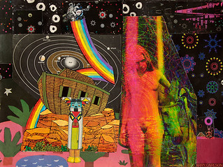 LARRY CARLSON, Von Arx, collage on paper, 14x12in., 2012.