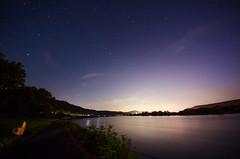 rhine riverbank (Tafelzwerk) Tags: sky night stars nikon riverside nacht himmel sigma bank riverbank 8mm rhine rhein sterne rheinufer langzeitbelichtung longtimeexposure remagen d7000 tafelzwerk