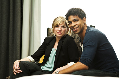 Carlos Acosta and Eva Birthistle at the Day of the Flowers photocall