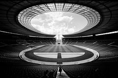 Looking into the memory (luce_eee) Tags: bw berlin architecture bn memory architettura olympiastadion berlino selp