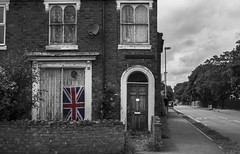 patriot (Fred Vasquez Stockdale) Tags: street uk england white house black colour building monochrome photography photo interesting nikon britain unique flag dramatic kingdom worcestershire flikr westmidlands atmospheric worcester stourport d3100