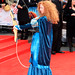 An archer on the red carpet for the European premiere of Brave at the Festival Theatre