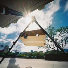 Transit of Venus - Hawaii (art y fotos) Tags: sun 120 6x6 mediumformat hawaii venus oahu handmade bamboo pinhole homemade flare honolulu 2012 bambole transitofvenus thecompact kodakektar100 lebambolemkii bamboopinholecamera