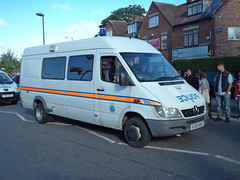 Staffordshire Police (VX55 NKG ) (Emergency_Vehicles) Tags: west birmingham police torch lane shirley olympic van staffordshire convoy relay solihull midlands b4025