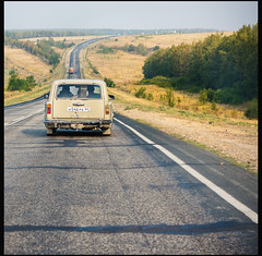 Two (Fake Truth) Tags: road travel highway russia asphalt lada vaz kazantip 2102 zhiguli 2101 z18 жигули лада avtovaz dvoika копейка двойка автоваз