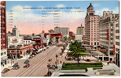Long Beach Ocean Blvd1940's, (orngejuglr) Tags: subway tunnel pike brekers oceanboulevard villariviera lowesstatetheatre jerginstrustbuilding
