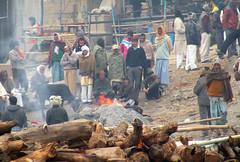 Sadness (Sandeep Santra) Tags: life people india architecture river temple fire death place details places burning varanasi activity hindu kashi mythology ganges benaras burningghat incredibleindia manikarnikaghat