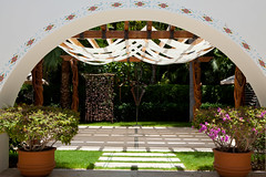 Entrance to the Yoga Garden (thewanderingeater) Tags: mexico hotel resort loscabos presstrip loscabosmexico oneonlypamilla 5starluxuryhotel pamillaloscabosmexico 5starluxuryresort