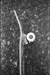 Skateboard (Eric Edvalson) Tags: bw white 3 black film 35mm 50mm cross sears costco 200 f2 agfa kirkland expired processed 1000 c41 ilfosol ksx