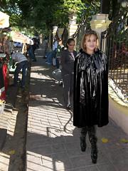 Sunday morning walk (mallorcarain) Tags: fetish nice boots vinyl streetshots raincoat pvc bottes fakes stiefel raincape regenmantel cir lackmantel impermables
