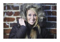 Karley Again (Geoff Sills) Tags: camera city light portrait brick beautiful smile fashion wall photography hoodie nikon pretty geoff g gorgeous coat 14 sb600 85mm william off richmond blonde hood geoffrey retouch sills 14g d700