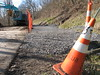 07 RTW It is narrow, so anyone on bikes should dismount and walk past. (CityofMorgantown) Tags: west wall work virginia construction crane rail trail wv morgantown drill retaining pave caperton